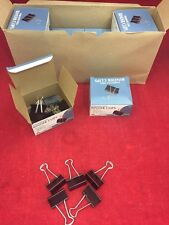 NEW CASE OF 144 SKILCRAFT Medium Binder Clips Hardened Steel 12 Boxes Of 12