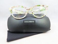 Dolce & Gabbana DG 3203 2843 Clear Floral New Authentic Eyeglasses 51mm w/Case