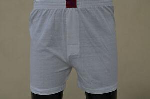 Boxer-Short Unterwäsche 4er Pack in weiß Baumwolle Größe S,M,L,XL,XXL
