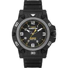 Timex Expedition Shock Black Dial Resin Strap Gents Watch TW4B01000