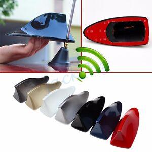 Shark Fin Roof Antenna Aerial FM/AM Radio Signal Decoration Car Accessories Trim