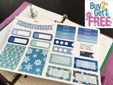 PP161 -- Blue Winter Christmas Kit Planner Stickers for Erin Condren (23pcs)