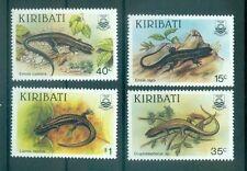 REPTILES - LIZARDS KIRIBATI 1987 set