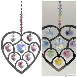 Swarovski Elements Heart of Hearts Hanging Crystal Suncatcher Boxed Select NEW