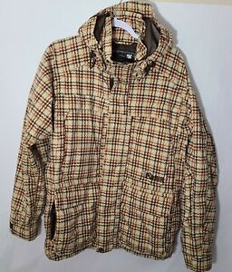 Burton Ronin Ski Jacket Mens Size Small Plaid