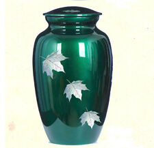 Mother of Pearl inlay Autumn Leaves Cremation Urn,Adult Funeral urn, Brand New
