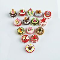 15x Dollhouse Miniature Food Bakery Cake Sweet Mini Tiny Wholesale Mixed Lot