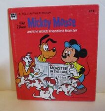 Disney Whitman Tell-A-Tale Book Mickey Mouse And The World'S Friendliest Monster