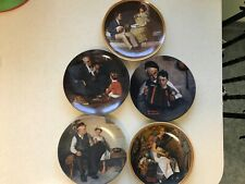 """Set of 5 Norman Rockwell Collector Plates, each 8.5 """" diameter"""