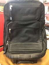 Totes Black Backpack With Wheels 4 Pocket