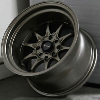 15x9 Bronze Wheels Vors TR3 4x100/4x114.3 0 (Set of 4)