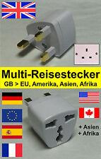 Reiseadapter / Reisestecker / Steckdose Adapter für England, Schottland & Wales