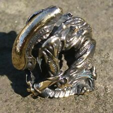 Alien - LANYARD BEAD KNOT PARACORD BRACELET HAND CAST COLLECTIBLE IN BRASS