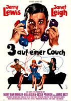 3 auf einer Couch ORIGINAL A1 Kinoplakat Jerry Lewis / Janet Leigh / Gina Golan