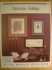 Blue Whale Designs Victorian Holiday Cross Stitch Patterns VH-1 Book