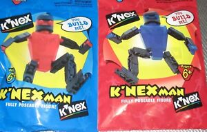 K'nex Man People Figures Robots KNex sealed new blue and red