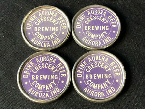 Crescent Brewing Co. Advertising Pocket Mirror Aurora, Indiana Drink Aurora Beer