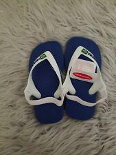 Havaianas Baby Brazil Logo flip flops 23/4 New Blue