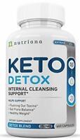 KETO DETOX Weight Loss Pills 60 Capsules Ketogenic Cleanser NUTRIANA