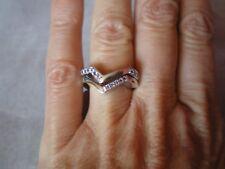 Tanzanite zig zag stacker rings, size L/M, 0.32 carats, 6.57 grams 925 Ster Silv