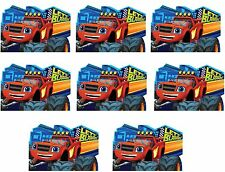 8 x Blaze & The Monster Machines Birthday Party Invitations and Envelopes