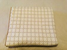 Martha Stewart Collection Circle Stich  FULL / QUEEN Quilt Brown/White- Mint