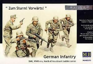 MB Masterbox - German Infantry Dak For Storm 5 Figurines 1:3 5