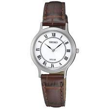 Seiko Genuine Leather Strap Casual Wristwatches