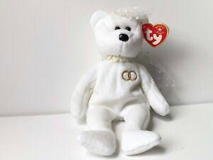 TY Beanie Baby Retired RARE Tag Errors Mrs. Wedding Bear