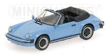 PORSCHE 911 Carrera Cabriolet 1983 blue 1/43 MINICHAMPS 430062036