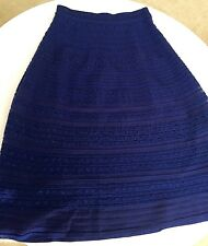 M Missoni Blue Stripe Skirt Sz 40