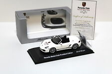 1:43 Minichamps Porsche Boxster Spyder club asia 25/50 New chez Premium-modelcars