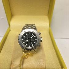 Invicta 13823 Silver-tone Black Dial Mini Watch Collection Subaqua Desk Clock