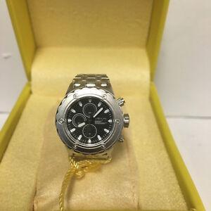 Invicta 13823 Silver-tone Black Dial Mini Watch Collection Sub Aqua For Desk