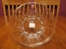 Gorgeous Marquis By Waterford Crystal Heavy Lead Swirl Pattern Bowl With Labels