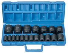 19 pc. 1/2 Dr. Fractional Impact Socket Set GRY-1319 Brand New!