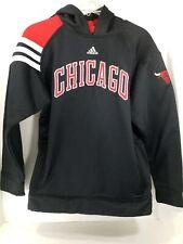Adidas Chicago Bulls Youth Kids Hoodie Hooded Sweatshirt L 14/16 Sewn