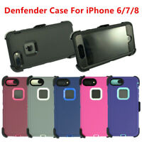 For iPhone 6/6s/7/8 Universal Defender Case w/Screen&Belt Clip fit Otterbox