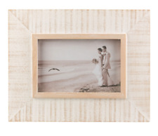 Sass & Belle Seaside Hanging Standing Wood Photo Frame Portrait Picture 6 X 4