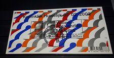 Nederland koninklijk huwelijk 2002 velletje gestempeld