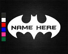 PERSONALISED BATMAN NAME VINYL DECAL STICKER BEDROOM/CAR/VAN/WALL/DOOR 20CM