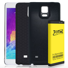 7650mAh Phone Extended Battery Replacement for Samsung Galaxy Note4 + Case Black