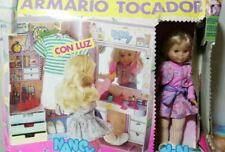 Nancy Coleccion Años 80 Original Armario Tocador nuevo en CAJA (deteriorada)