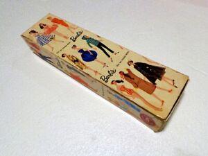 1959 BUBBLE-CUT BARBIE w/PINK DRESS & BABYSITTER APRON #4 IN ORIGINAL BOX