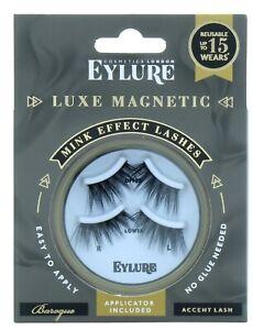 Eylure Luxe Magnetic Eyelashes Mink Effect Corner Lashes Applicator 2 Pairs New