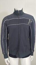 Hurley Mens Bomber Varsity Jacket Large Gray Full Zip Up Front Cotton Blend