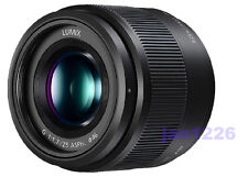F/S New Panasonic H-H025-K LUMIX G 25mm F/1.7 Lens For M4/3 white box with hood