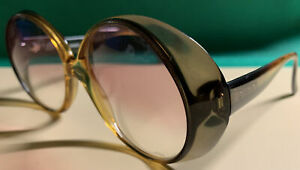 Playboy Vintage Sunglasses Yellow/Green Round Oversized Frames 1023-50 Germany