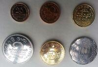 Sri Lanka new full set of new coins 2013