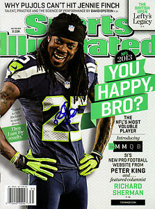 Richard Sherman SEATTLE SEAHAWKS Sports Illustrated Signed NO LABEL IN PERSON